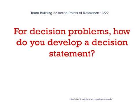 Team Building 22 Action Points of Reference