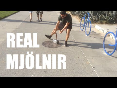 Real Mjolnir (Thor's Hammer) - Electromagnet, Fingerprint Scanner | Sufficiently Advanced