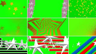 Футажи переходы ЗВЕЗДА на зеленом фоне/хромакей. Footage Transition Fly STAR.