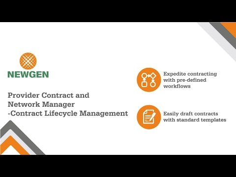 Provider Contract And Network Manager: Module 1 - Contract Lifecycle Management