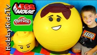 GIANT Emmet Play-Doh Head Surprise on HobbyKidsTV thumbnail