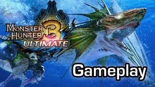 Monster Hunter 3: Ultimate - Hunting monsters on the Wii U (Gameplay 1080p)