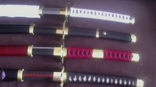 RORONOA ZORO'S SWORDS!!! UNBOXING!!! VIDEO!!! (ALL 4 SWORDS) ONE PIECE!!!