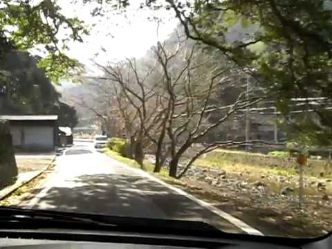 Driving through the rural mountains in Shimane Japan