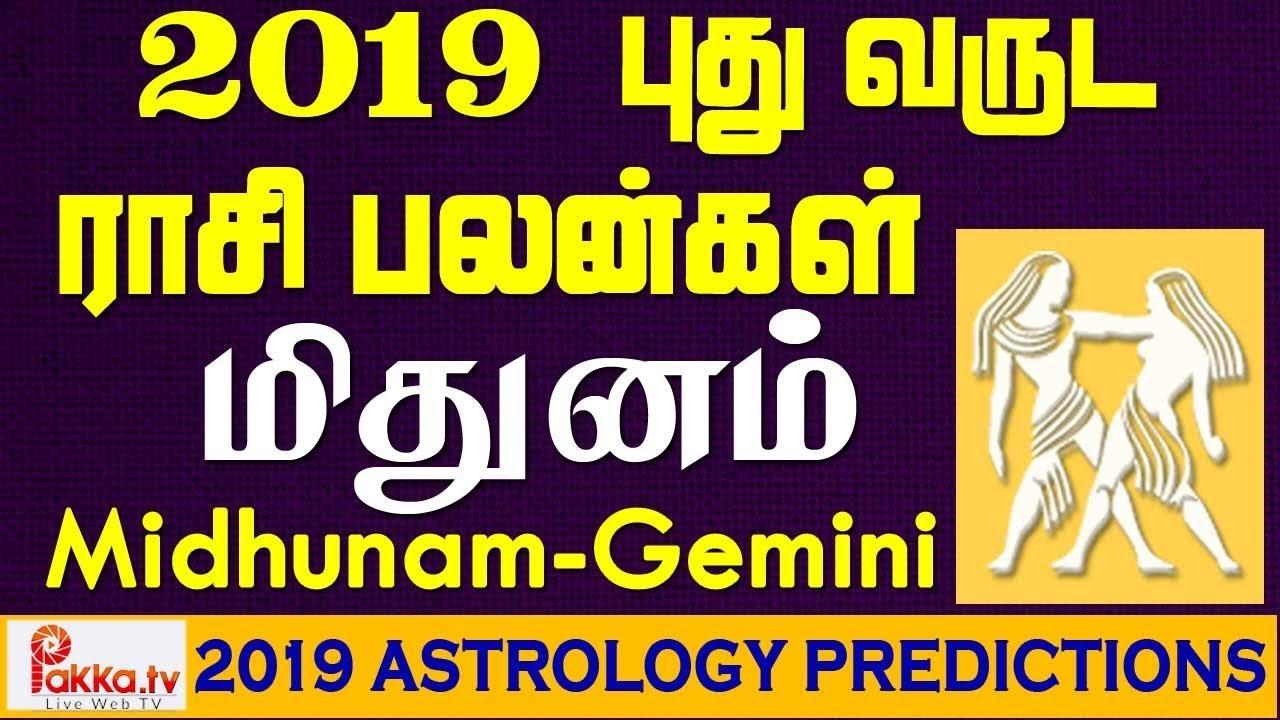 Midhunam (Gemini) Yearly Astrology Horoscope 2019 | New Year Rasi Palangal  2019 | Gemini 2019