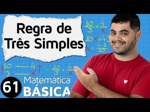 🔴 REGRA DE TRÊS SIMPLES E COMPOSTA (parte 1) | MAB #61