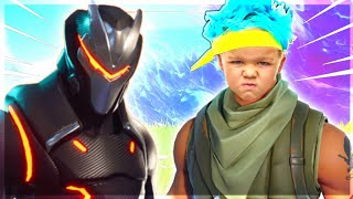 SO I PLAYED WITH NINJA JR IN FORTNITE AND THIS HAPPENED..