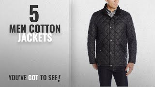 Cole Haan Cotton Jackets [ Winter 2018 ]: Cole Haan Men's Quilted Barn Jacket, Black, X-Large