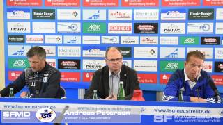 Pressekonferenz - TSG Neustrelitz gegen 1. FC Magdeburg 0:1 (0:1) - www.sportfotos-md.de