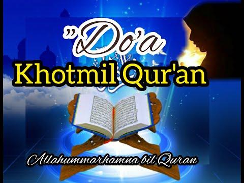 Allahummarhamna Bil Quran Do A Khotmil Qur An Rijal Vertizone Lyric