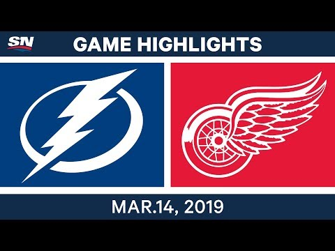 NHL Highlights   Lighting vs. Red Wings  – Mar 14, 2019