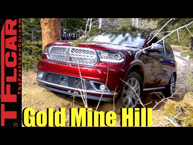 2017 Dodge Durango Takes On A Snowy Gold Mine Hill Off Road Review