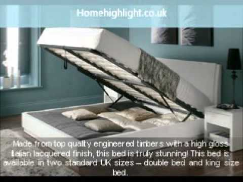 Aden High Gloss Ottoman Storage Bed