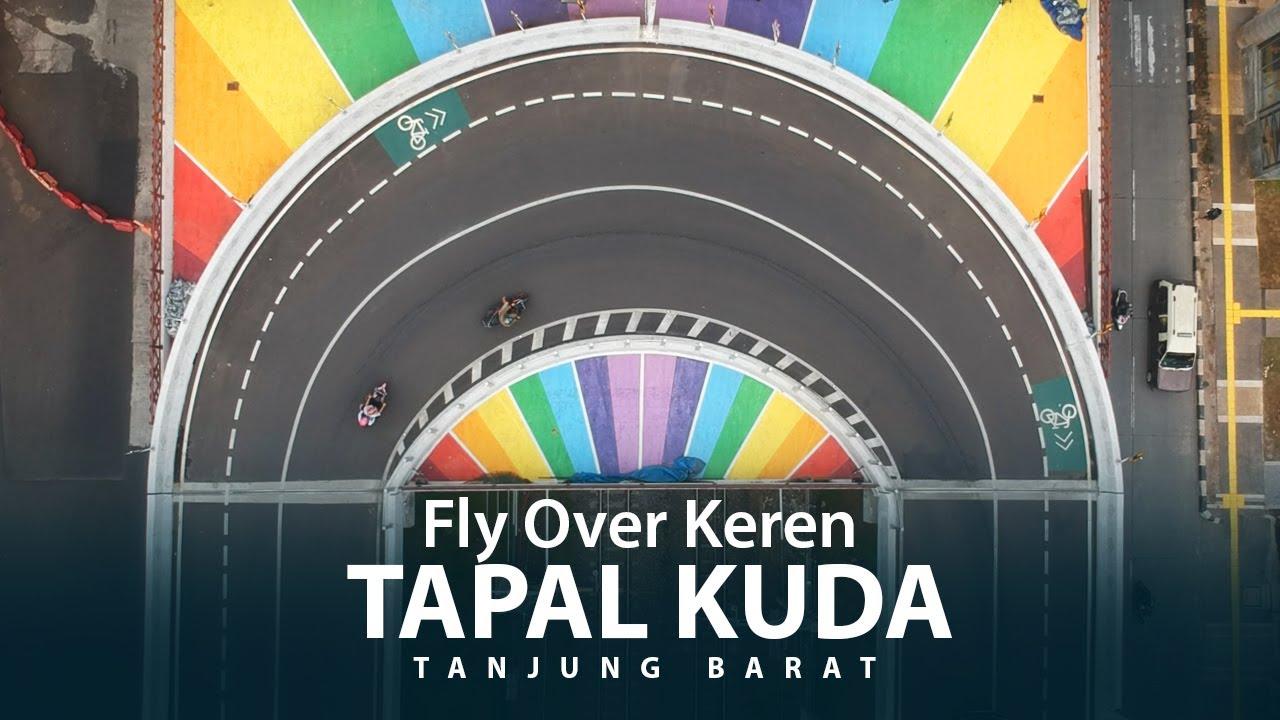 FLY OVER TAPAL KUDA KEREN DI JAKARTA, KAYA SIRKUIT BALAPAN