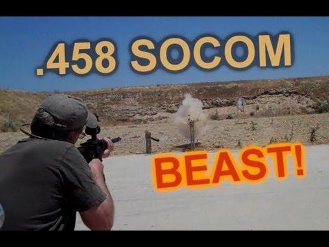 AR15  .458 SOCOM  -  A real Shoulder BRUISER!