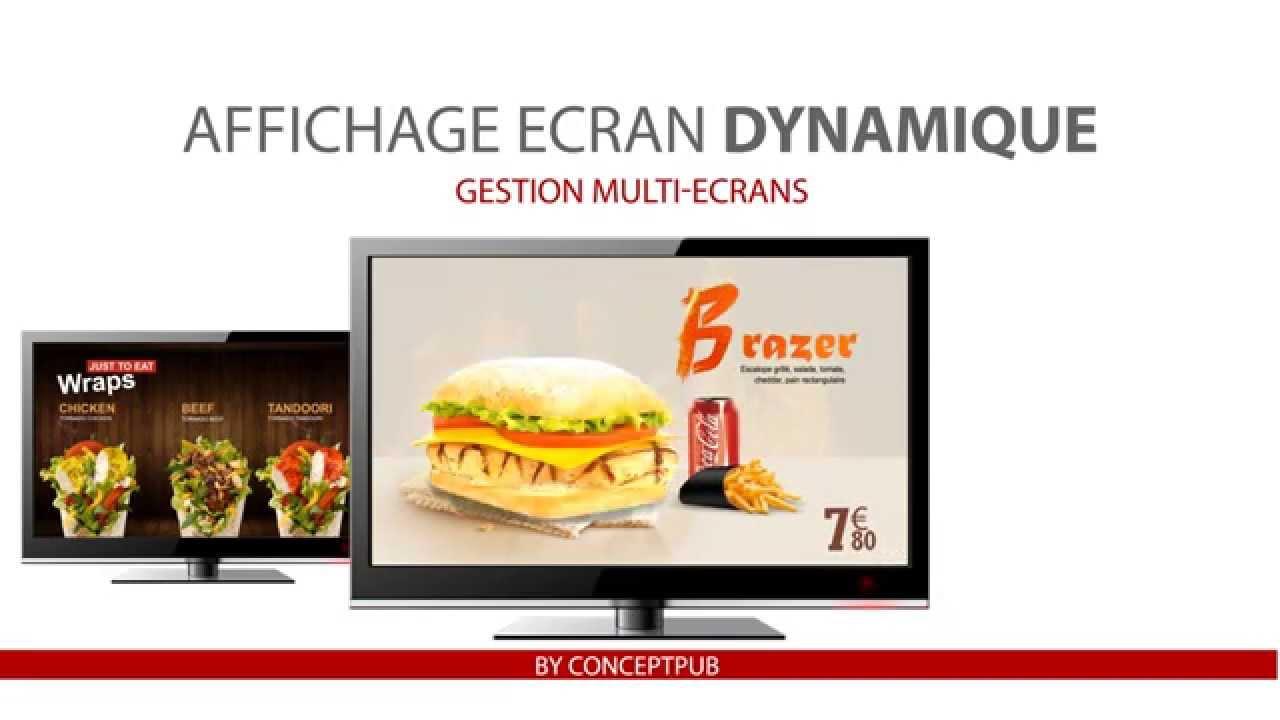 affichage ecran dynamique youtube