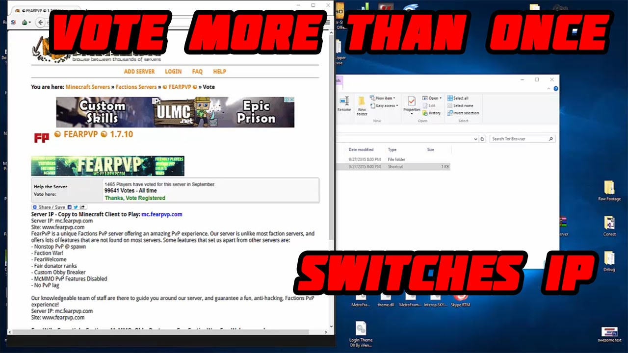 Vote Multiple Times Switches IP and Unique Identifiers - Minecraft
