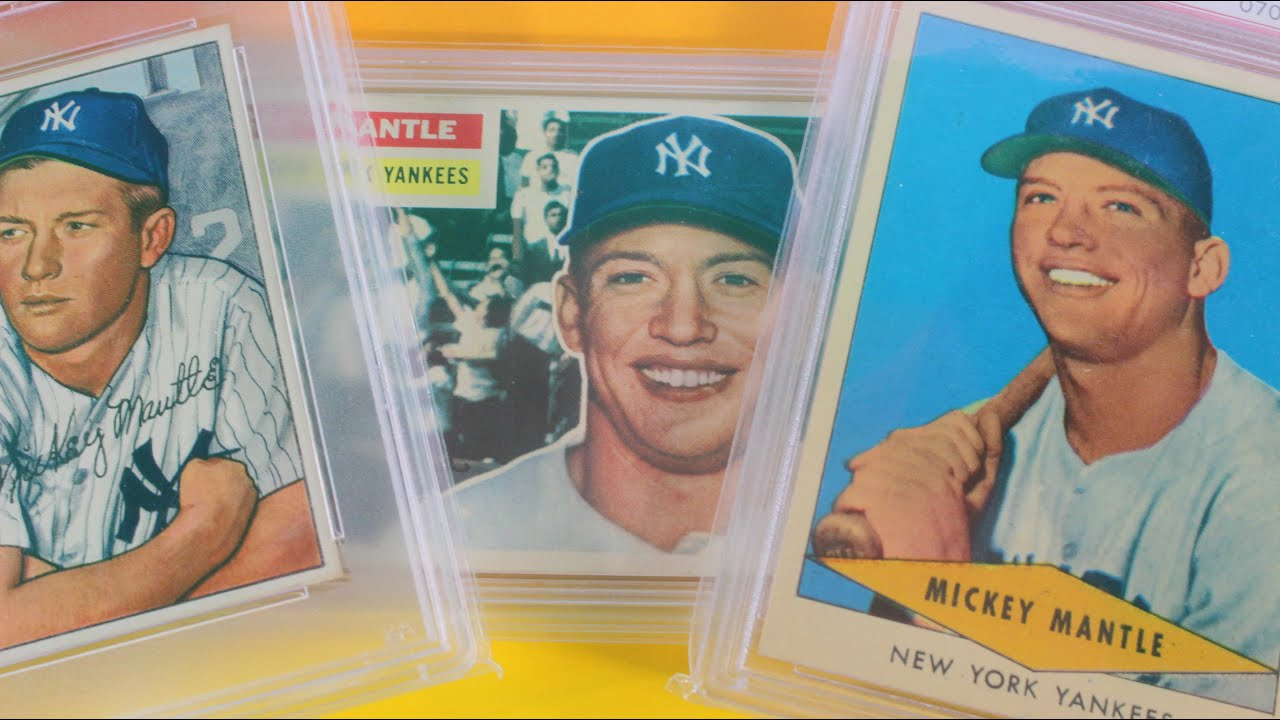 Mickey Mantle Baseball Card 1952 1956 Mantle Collection Centered High End All Psa 7 Or Higher
