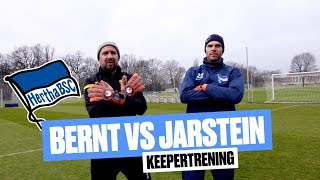 Bernt vs Jarstein: Bernt på keepertrening i Hertha Berlin