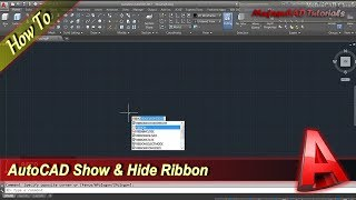 Autocad Tutorial How To Show And Hide Ribbon