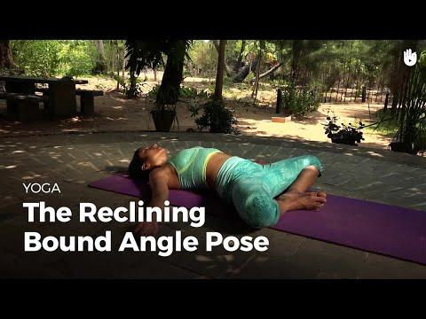 Learn the Reclining Bound Angle Pose Supta Baddha Konasana | Yoga