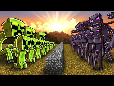 Minecraft   CREEPER ARMY VS ENDERMAN ARMY! (Massive Mob Battles)