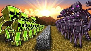 Minecraft | CREEPER ARMY VS ENDERMAN ARMY! (Massive Mob Battles)