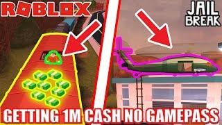 Getting 1 MILLION Jailbreak cash WITHOUT GAMEPASSES! | Roblox Jailbreak No Gamepass Grind pt 1