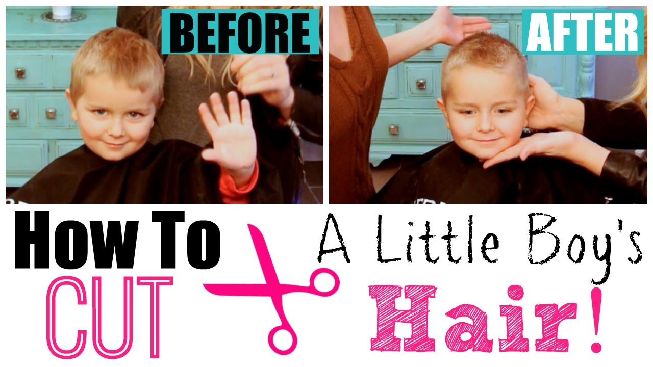 EASY BOY HAIRCUT TUTORIAL: How to Cut Boy's Hair at Home with Clippers &  Scissors