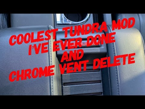 TUFSKINZ Coolest Tundra Mod I've Ever Done And Chrome Vent Delete
