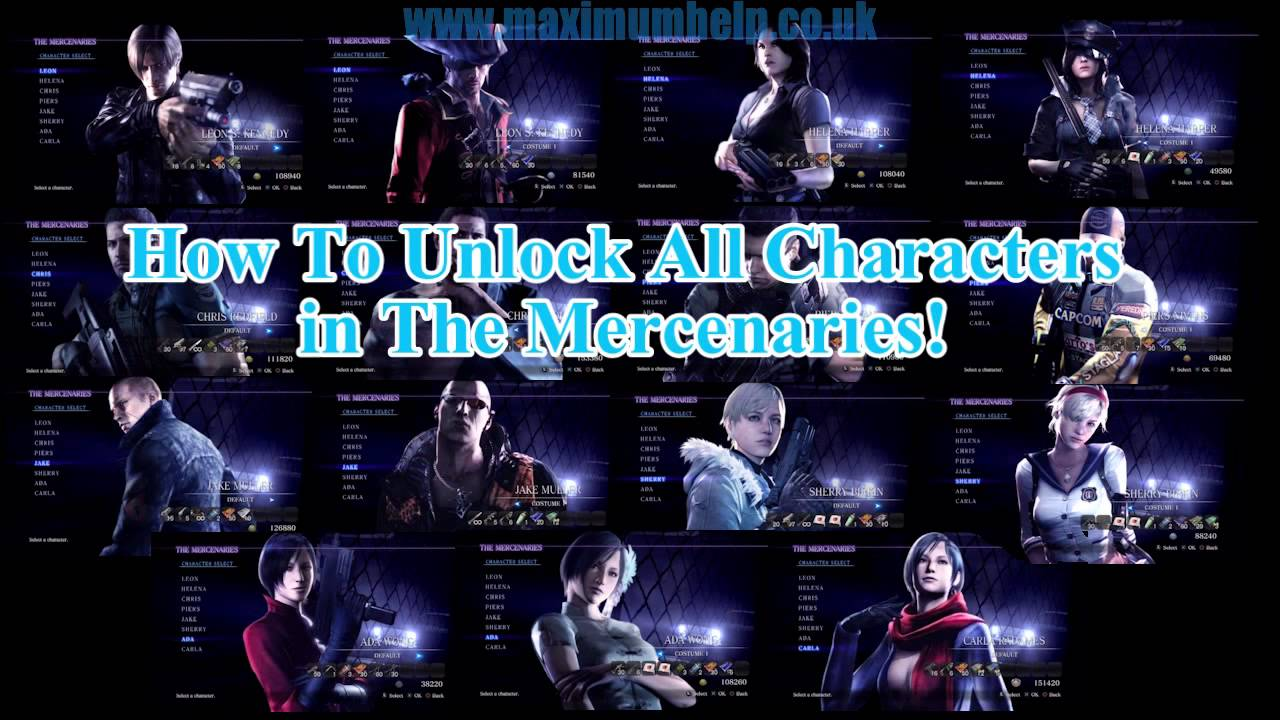 Link How To Unlock All Characters In The Mercenaries Resident Evil