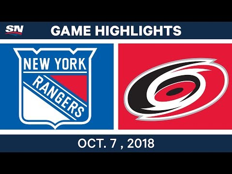 NHL Highlights | Rangers vs. Hurricanes - Oct. 7, 2018