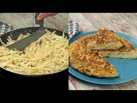 Giant omelet a very tasty recipe for all the family