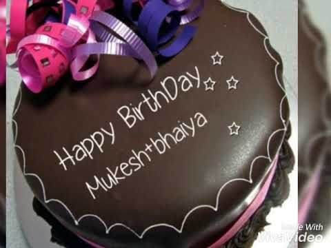 Happy Birthday Mukesh Bhaiya Cake Pic