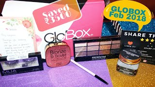 GLOBOX FEB 2018 | Unboxing & Review | Indian Beauty Reviewer |