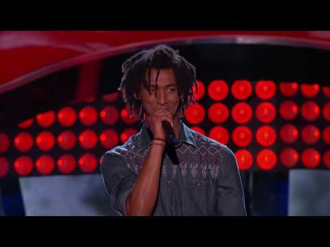 The Voice Blind Audition   Menlik Zergabachew Santeria, One Of The Best Reggae