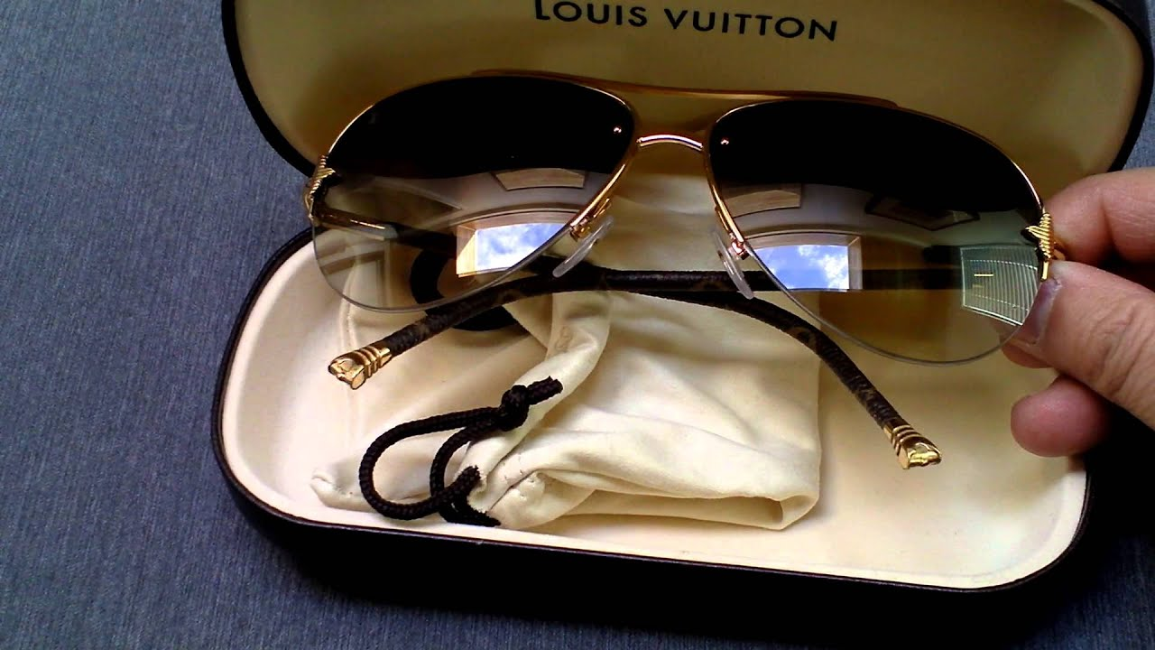8a7b04f1846 Louis Vuitton Petite Viola Pilote Sunglasses - YouTube