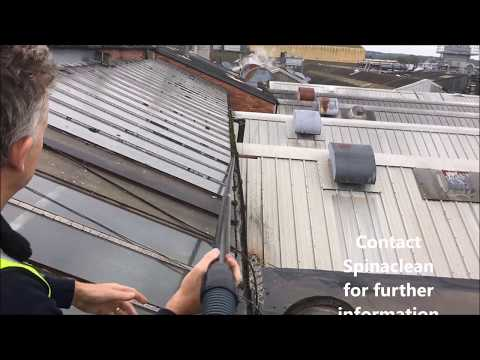 How to Clean out Hard to Reach Valley Gutters Safely - Gutter Cleaning Machine/Vacuum