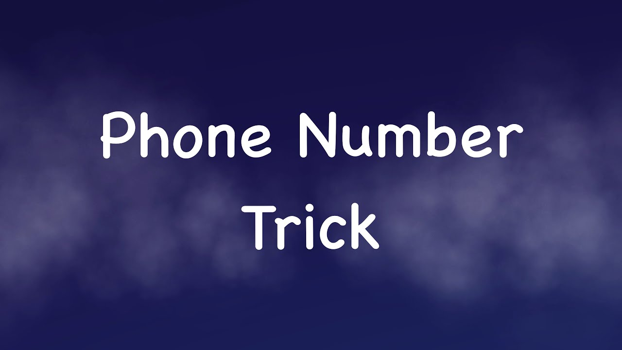 I Can Guess Your Phone Number (10 digits) - Math Tricks Magic - I ...