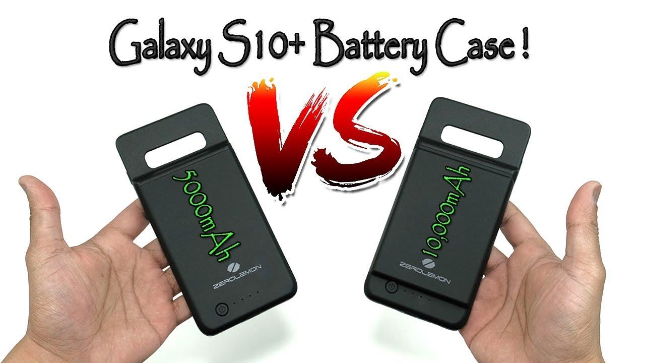 quality design 4c775 7ab57 Samsung S10 Plus 5000mAh vs 10,000mAh Battery Case Review (ZeroLemon) [4K]  60fps