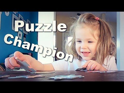 Autistic Preschooler Tackles a 48 Piece Puzzle
