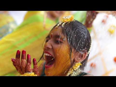 Risha Ragi Half Saree Ceremony - Mangalasnanam- Saree Function