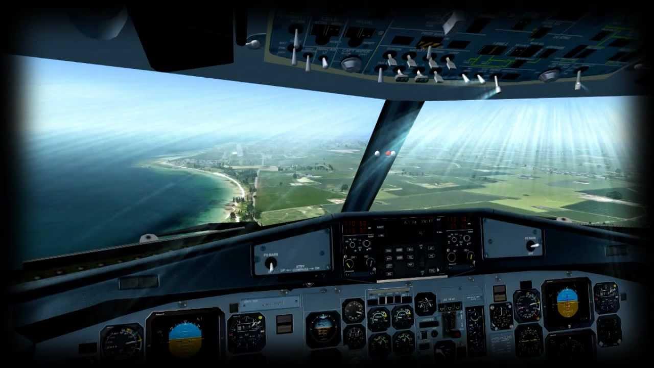Cockpit Hd Wallpaper Fsx Atr 72 Approaching Bornholm Airport Youtube