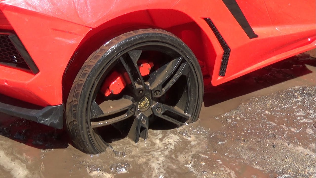 Red Lambo car stuck in the mud funny stories compilation