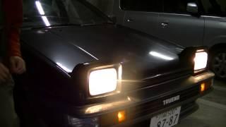 AE86スプリンタートレノのリトラクタブル・ヘッドライトを開けたり閉めたりしたのだ!