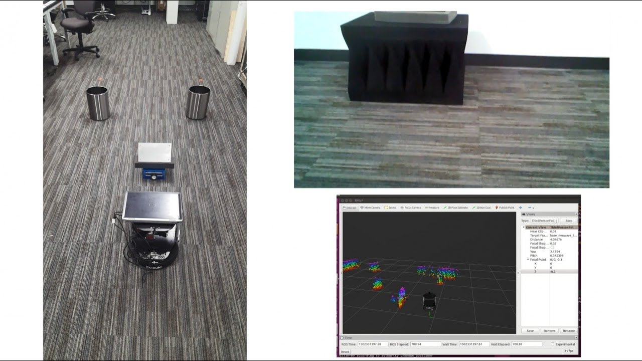Robotic mapping and navigation using TI's mmWave sensor