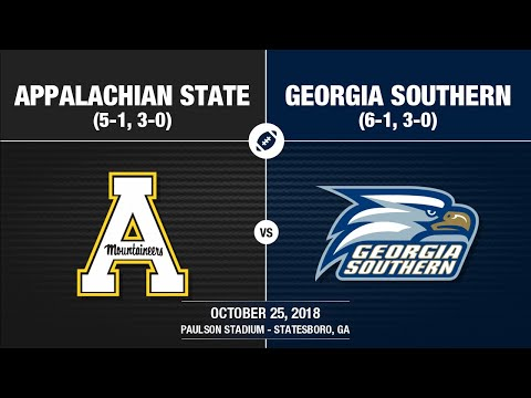 2018 Week 9 - Appalachian State at Georgia Southern