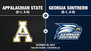 2018 Week 9 - Appalachian State at Georgia Southern