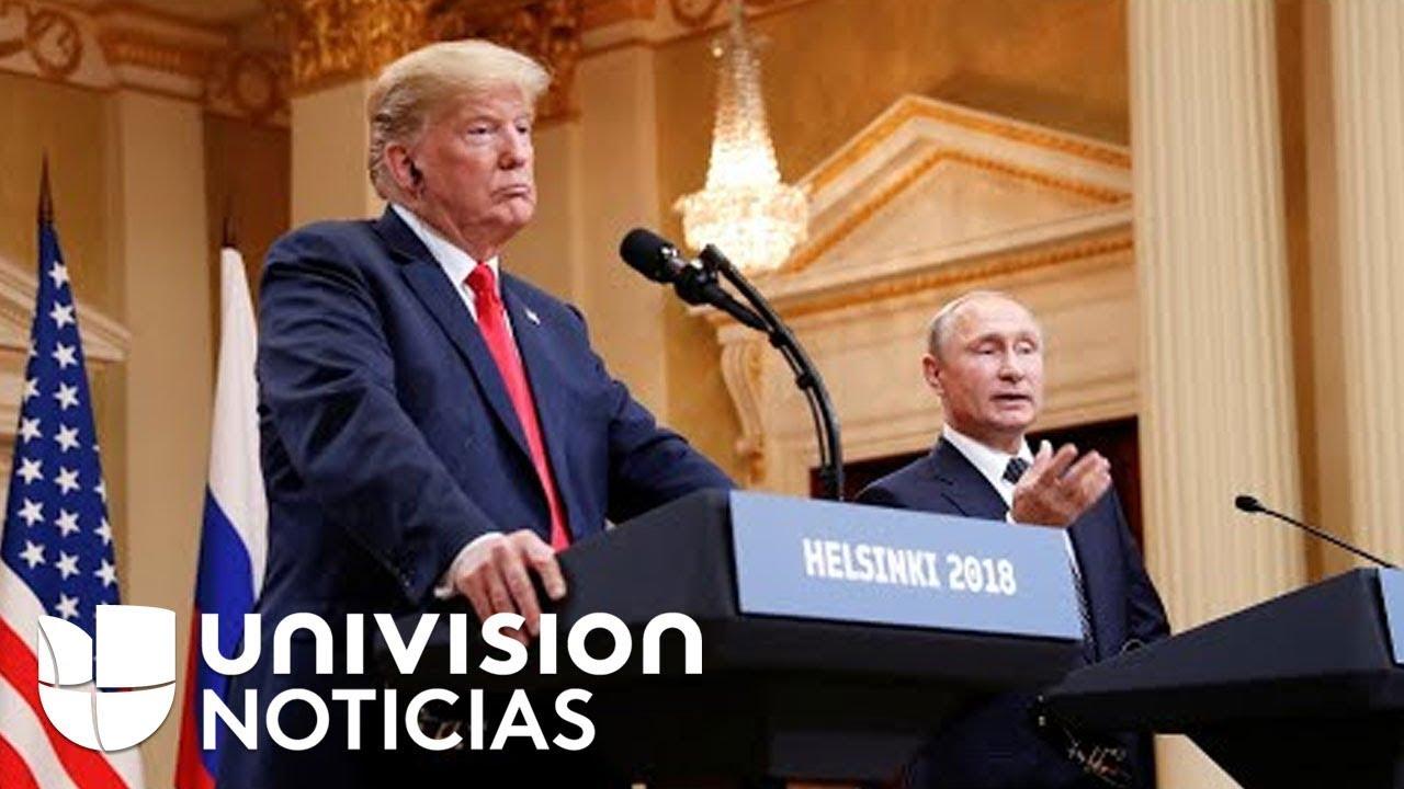 Trump genera repudio bipartidista tras apoyar negaciones de Putin sobre la interferencia rusa