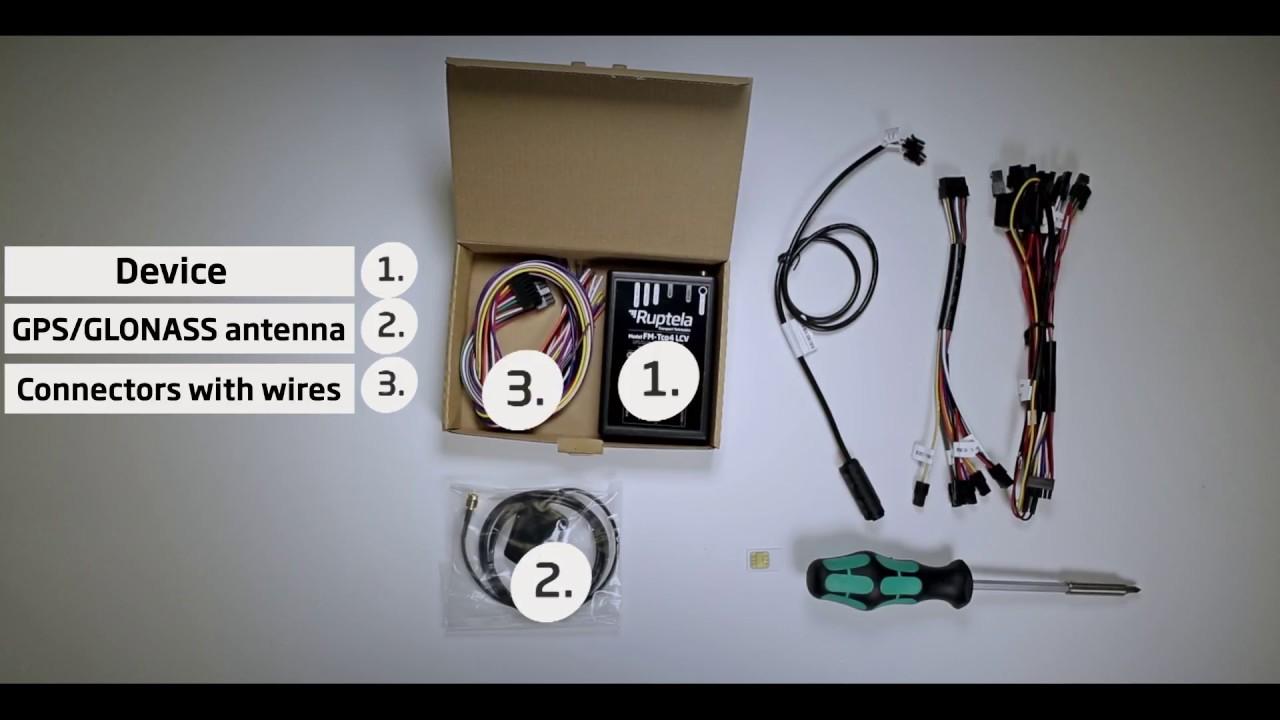 FM-Tco4 LCV GPS tracker installation tutorial - YouTube